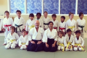 Aiki-kids got their new belts!(photo courtesy of the Madrid family)