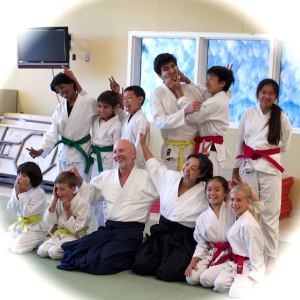 Silly Aikido Youth always bring fun and excitement to every class. (photo courtesy of s;djf family)