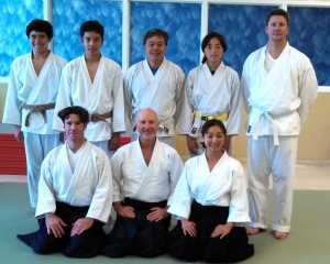 Aikido Del Mar Adult Test (photo courtesy of the Couvignou family)