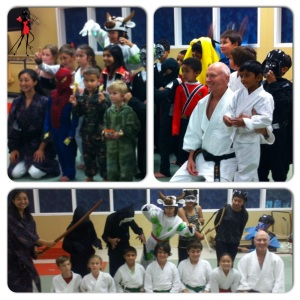It's fun to play dress up for Halloween at Aikido Del Mar!