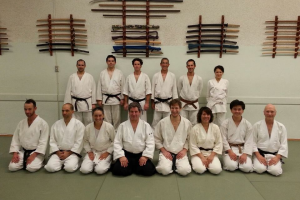 Aikido Del Mar members training with Jacques Muguruza Sensei in LA