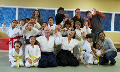 Aikido Del Mar Kids and Proud Parents after testing
