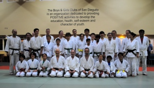 First day of the two-day intensive with Payet Shihan at Aikido of Del Mar, 2014.