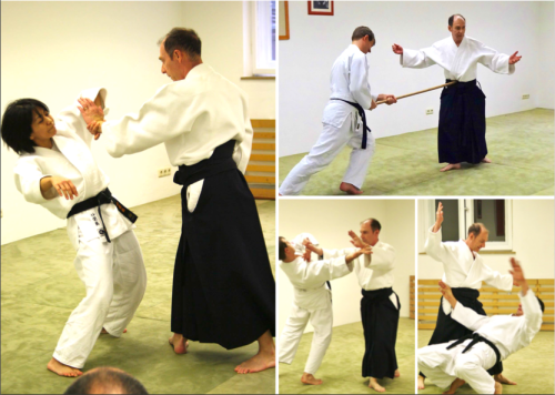 Come and learn the simplicity and grace of aikido through your inner strength (Jacques Payet Shihan teaching in Germany - photo courtesey of Aikido Yoshinkan Munich)